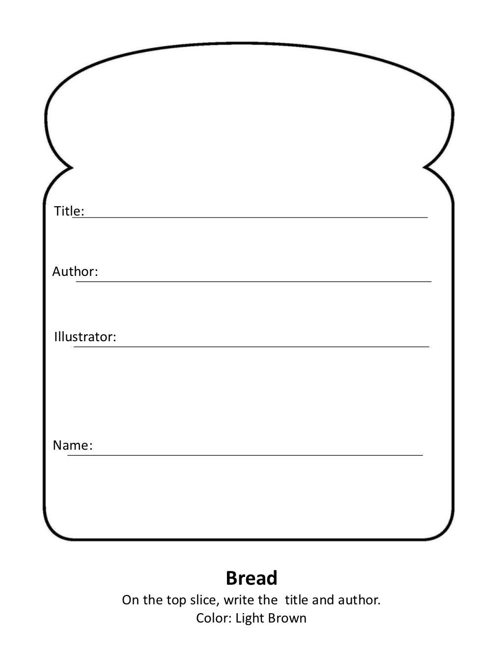 Sandwich Book Report By Heather Turner Via Slideshare