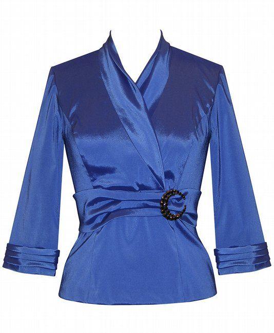blue stretch taffeta zip back