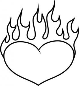 valentines for hearts on fire coloring pages - Coloring Pages Hearts