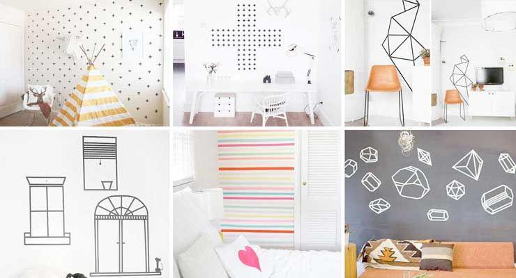 Ideas para decorar paredes con cinta washi 6 diy foto - Cintas para decorar ...