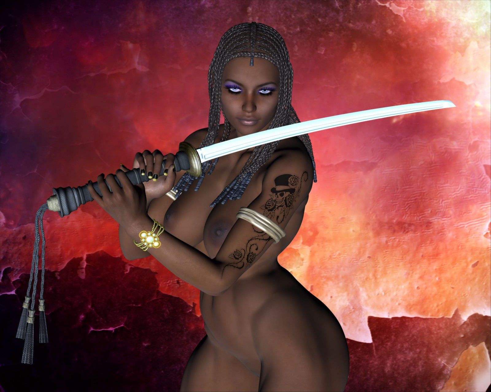 nude female fantasy warriors