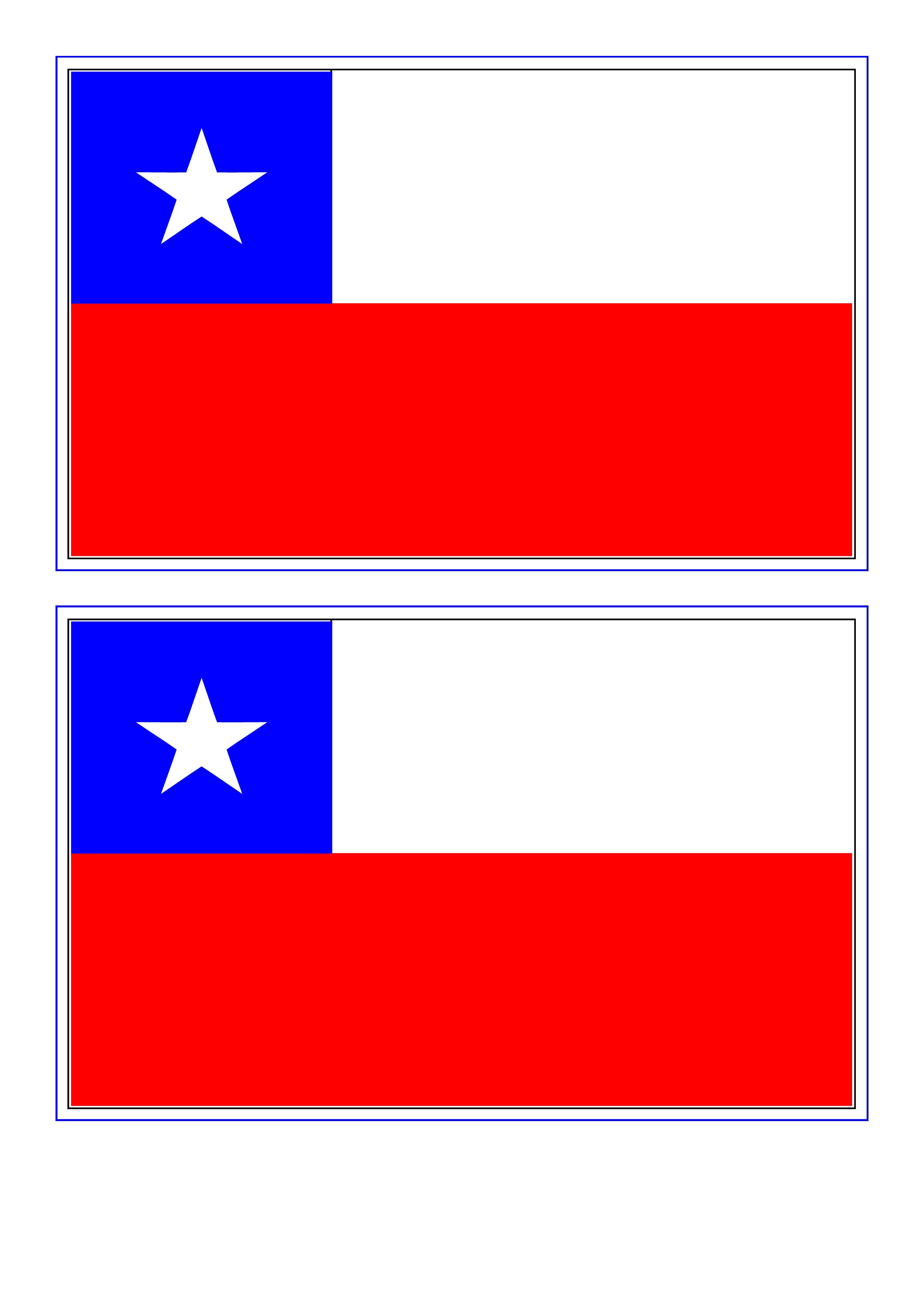 Chile Flag Free Printable Chile Flag Flag Printable Flag Coloring Pages Chile Flag
