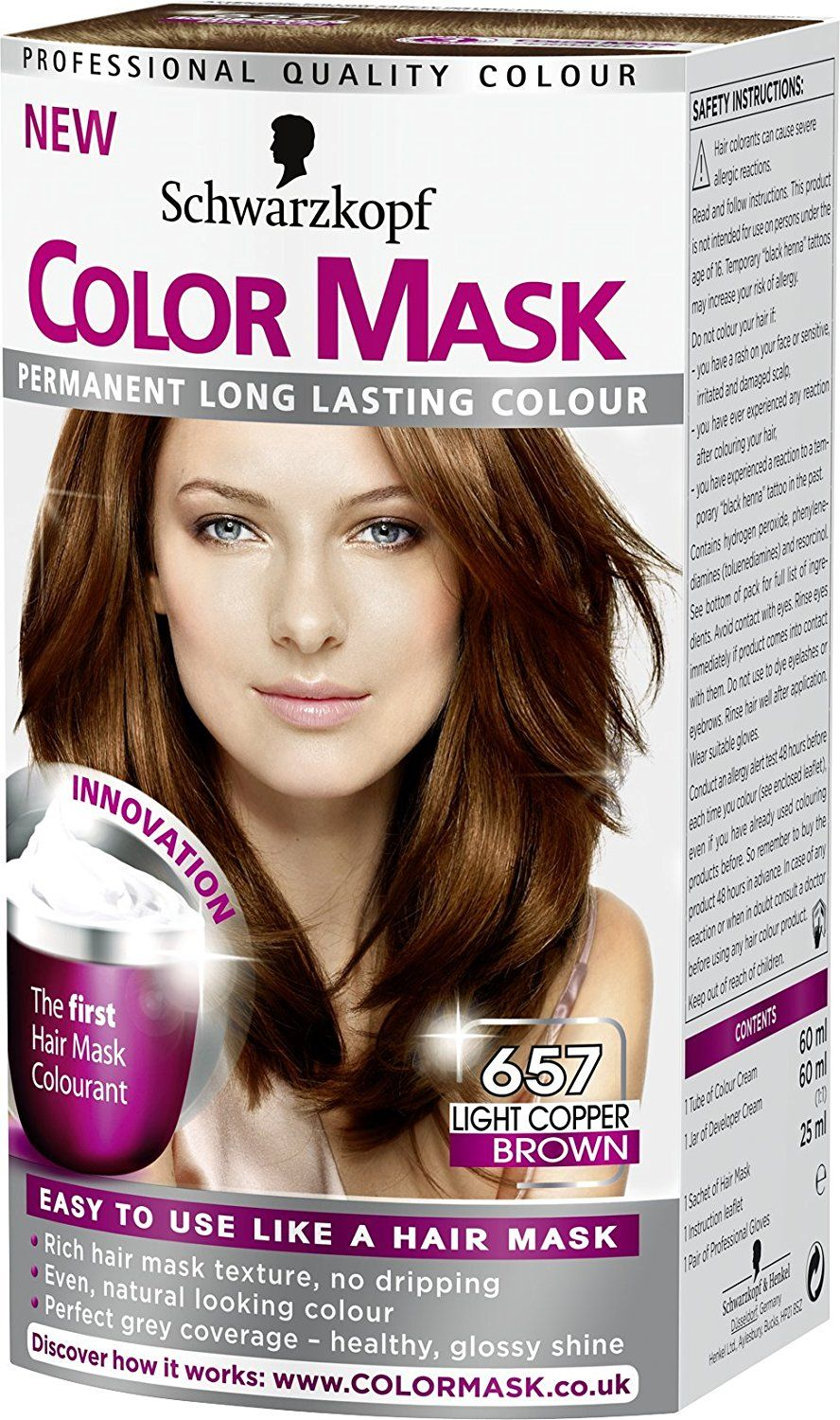 Schwarzkopf Color Mask 657 Light Copper Brown This Is An Amazon