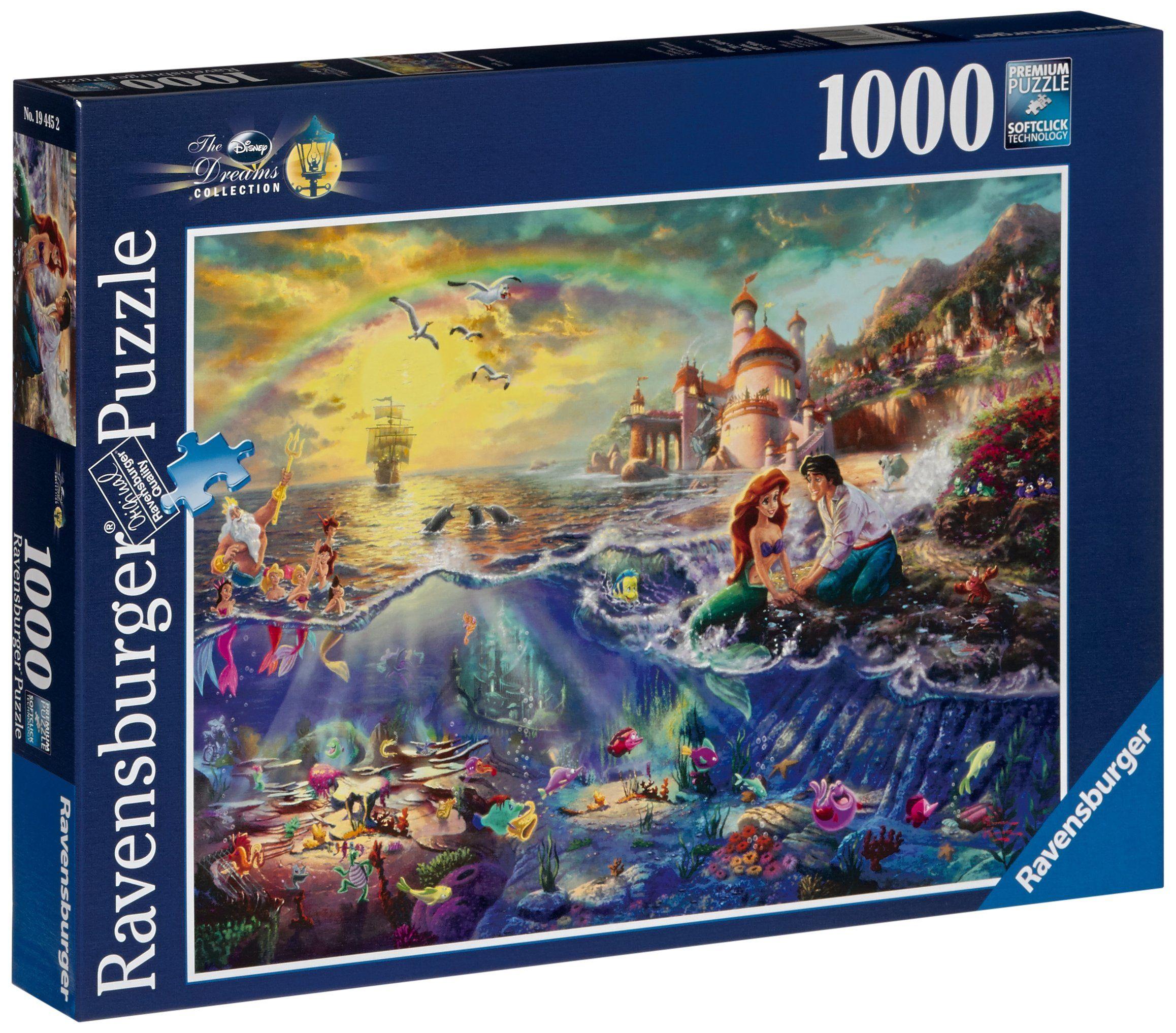 Ravensburger Puzzle Thomas Kinkade Disney Ariel 1000 Pieces Thomas Kinkade Disney Disney Puzzles Disney Jigsaw Puzzles