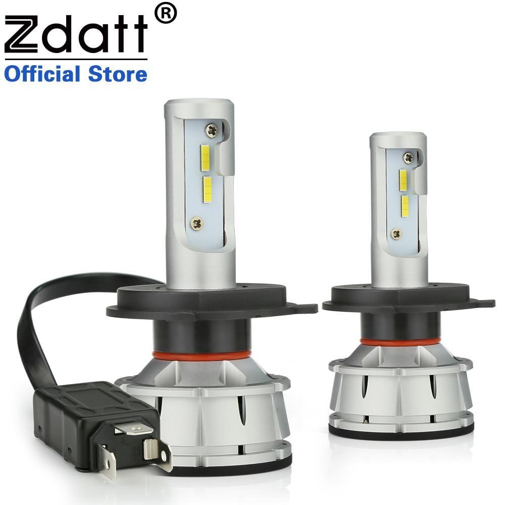 zdatt all in one h4 led h7 led canbus h11 car light headlight bulbzdatt all in one h4 led h7 led canbus h11 car light headlight bulb 100w 12000lm h8 h1 led hb3 9005 9006 hb4 6000k 12v auto lamp