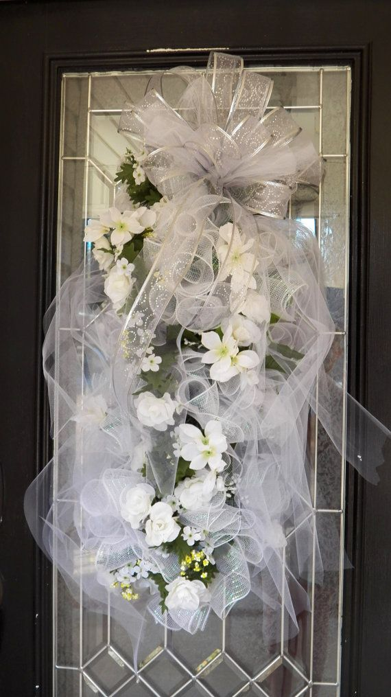 Huge White Wedding Swag Bridal Shower Wreath By Occasionsboutique
