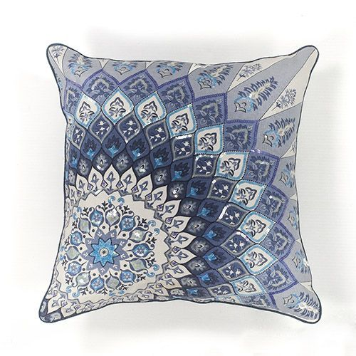 KAS Oriental Rugs Blue And White Starburst 40Inch Decorative Pillow Delectable Starburst Decorative Pillow