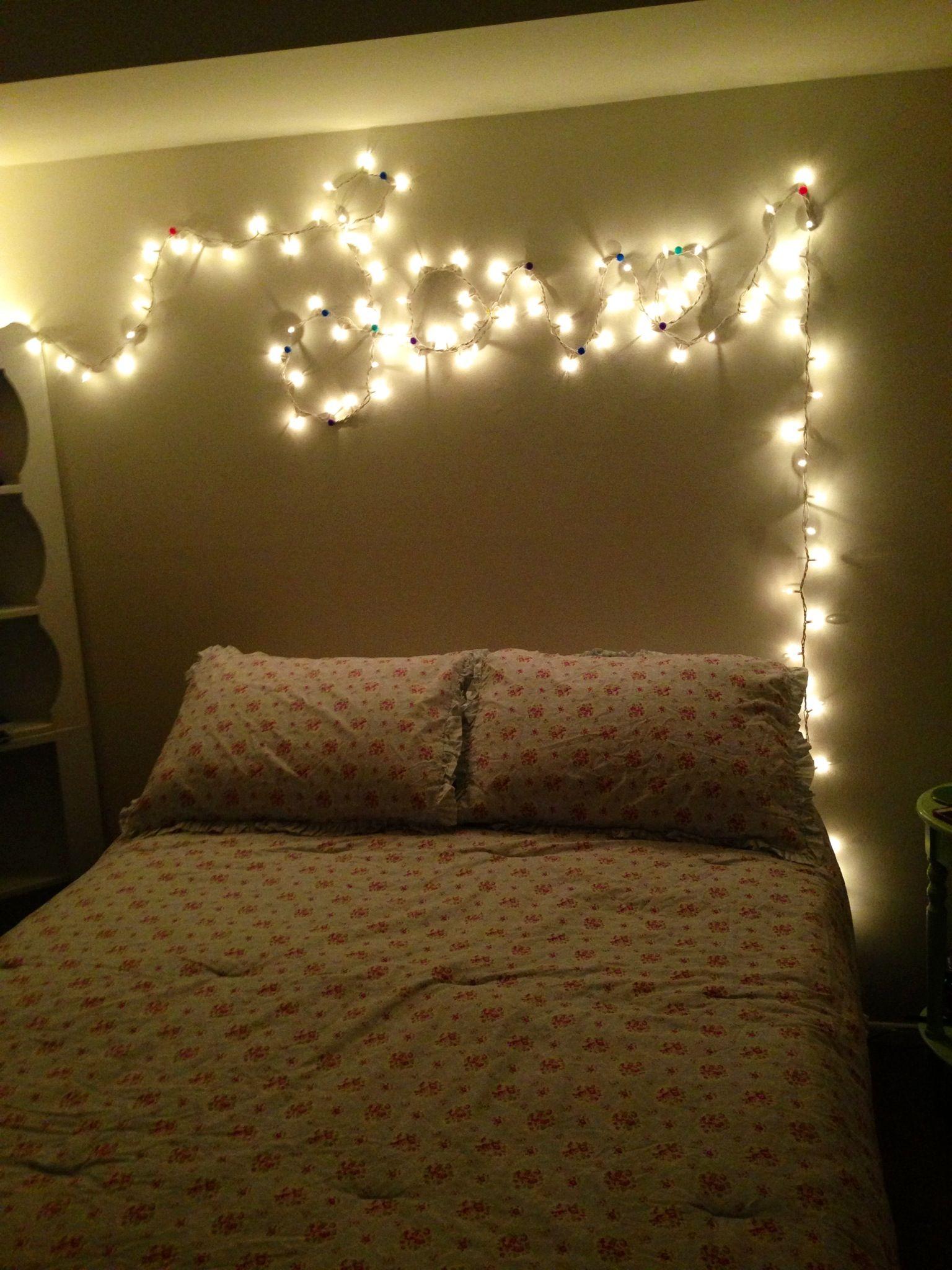 Cute Bedroom Idea Love In Lights Bedroom Lights Cute