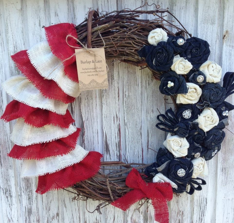 4th of july 4th of july wreath 4th of july holiday diy