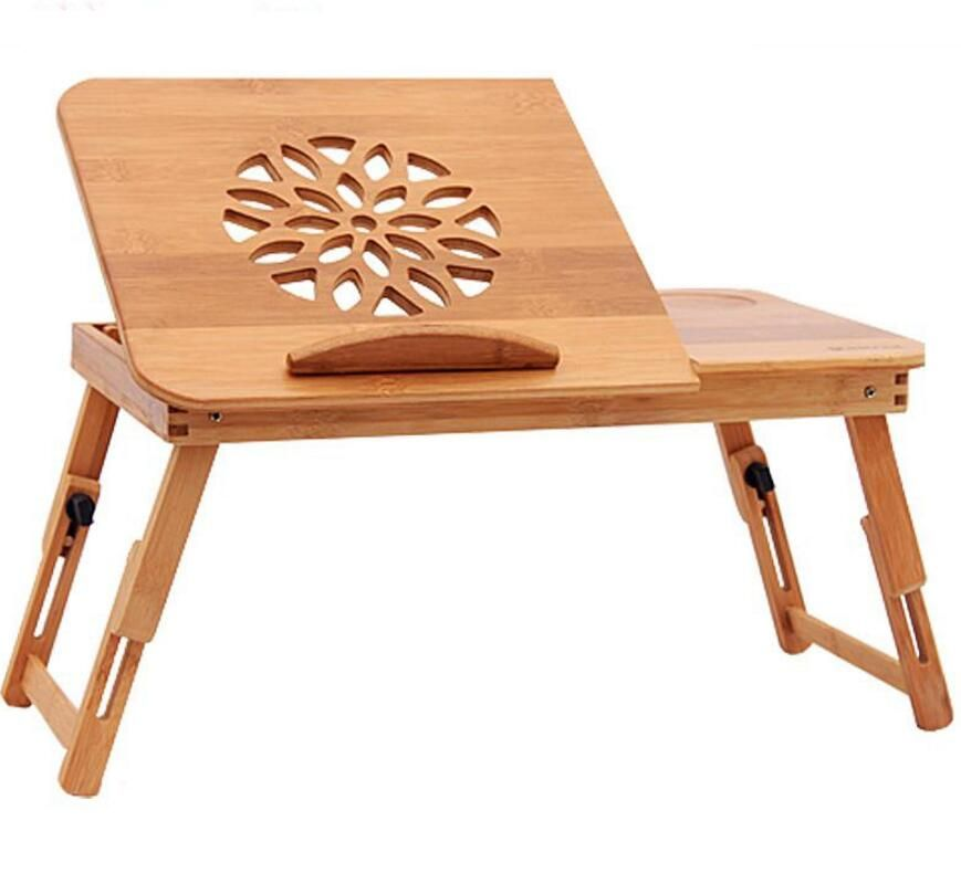 Computer Desks Bed Table Home Furniture Bamboo Laptop Desk With