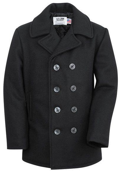 740 - Classic Navy Pea Coat | Le Chic Mar | Pinterest | Navy pea coat