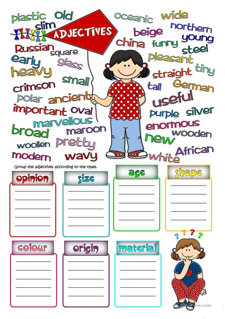 Parts Of Speech Adjectives Parts Of Speech Worksheets English As A Second Language Parts Of Speech