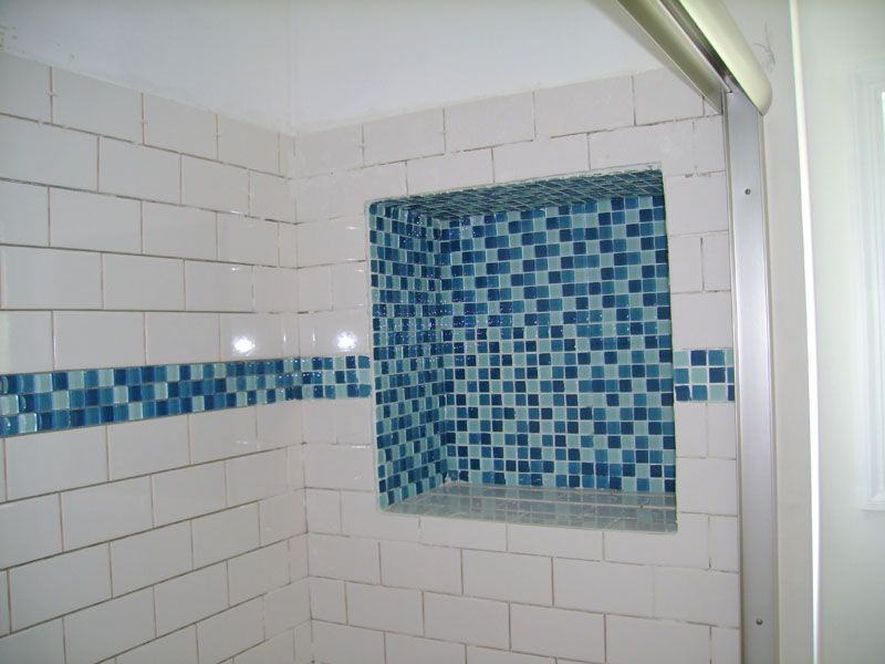 Bathroom Tile And Door