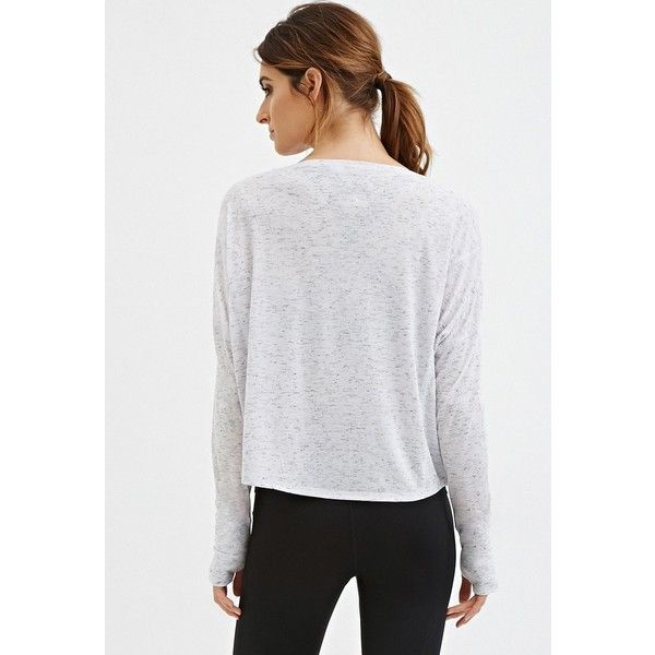 Forever 21 Womens Active Space Dye Knit Top 725 Dop Liked On