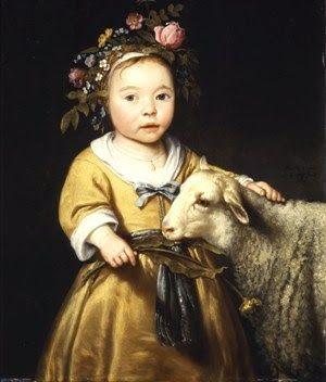 18C American Women: A few 18C British American women with Sheep & Lambs