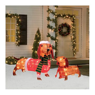 Tinsel Pre-Lit Dachshund Family, 2-Pack at Big Lots. #BigLots ...