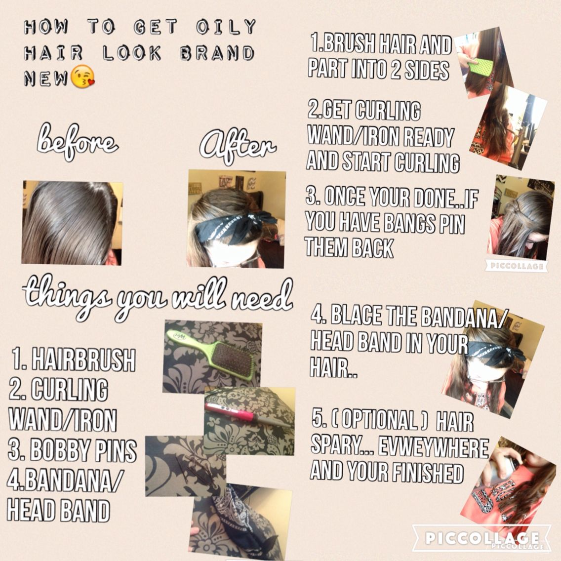 this is a cool trick that will make your hair look like you washed it the day before... ❤️❤️