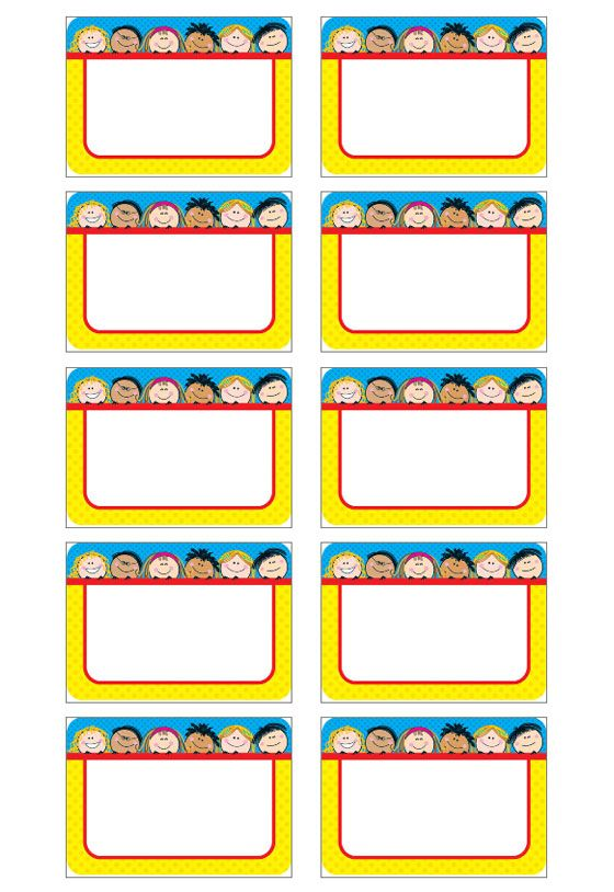 Name Tag Template  Download Name Badge Templates  Bordes Marcos
