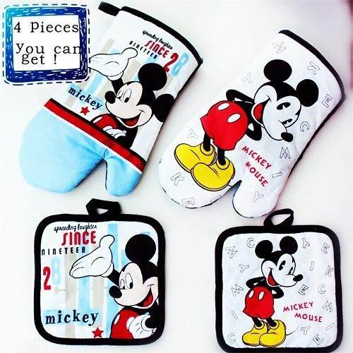 Disney Parks Minnie Mouse Oven Mitt Hot Pad Pot Holder NEW