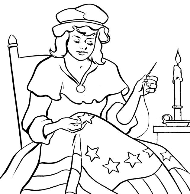 Betsy Ross Flag Of Heirloom Sewing Love Coloring For Kids ...