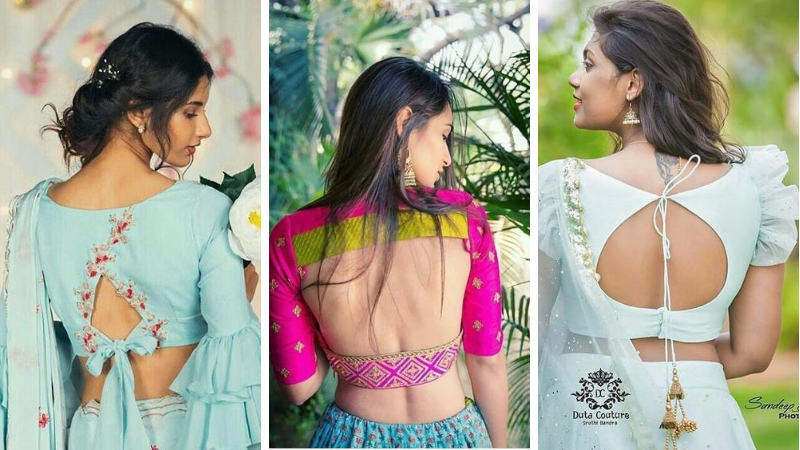 Top 30 Latest And Trendy Blouse Designs For Back Neck #blousedesignslatest Indian girls grow up admiring sarees right from the moment they see their mothers draping an exuberant nine-yard piece of grace. Sarees have been a part of the Indian culture since time immemorial. Saree is #blousedesignslatest