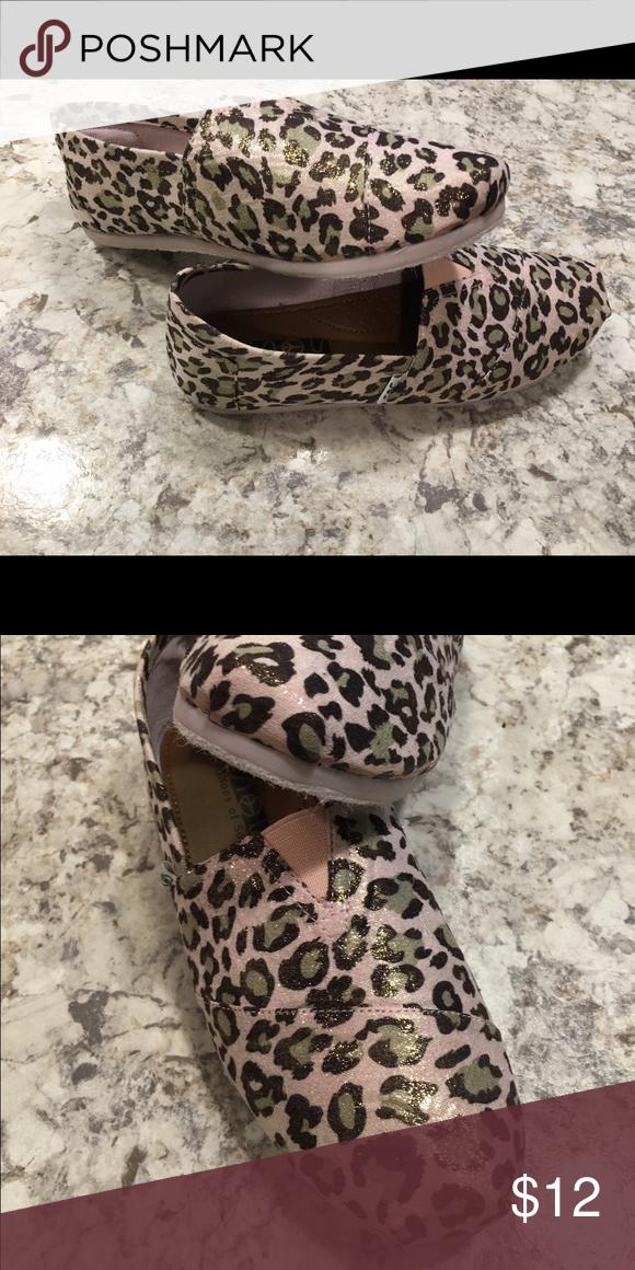 Leopard print slip on flats. Adorable leopard print flats. Never worn. NWOT Shoes Flats & Loafers
