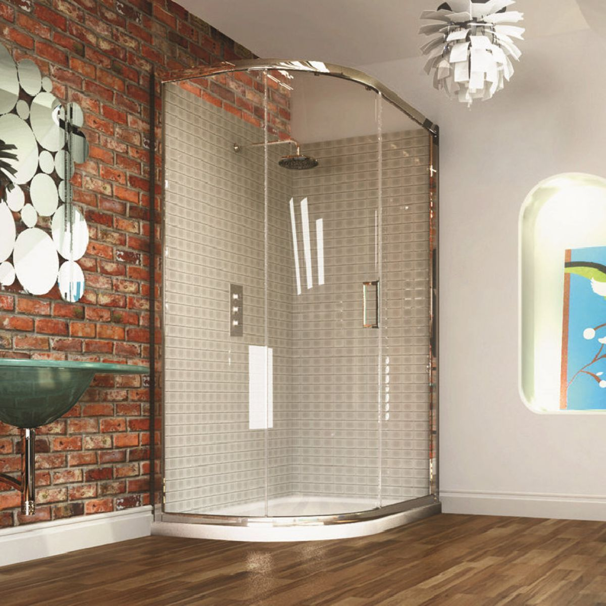 Merlyn Series 8 Single Door Offset Quadrant Shower Enclosure ...