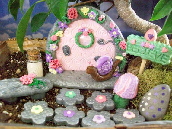 Spring Pastels Fairy Garden Kit Fairy Garden by KCCottageCreations