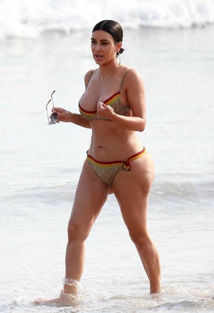 swimwear bikini bikini top bikini bottoms kim kardashian kardashians summer  beach 54651073c