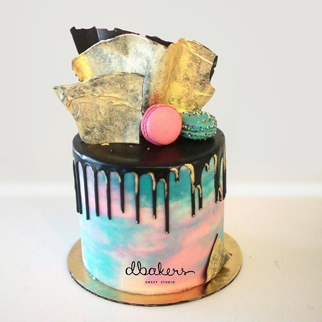 Marvelous Miami Vice Inspired Theme Colored Cake Feel The Groove Funny Birthday Cards Online Elaedamsfinfo
