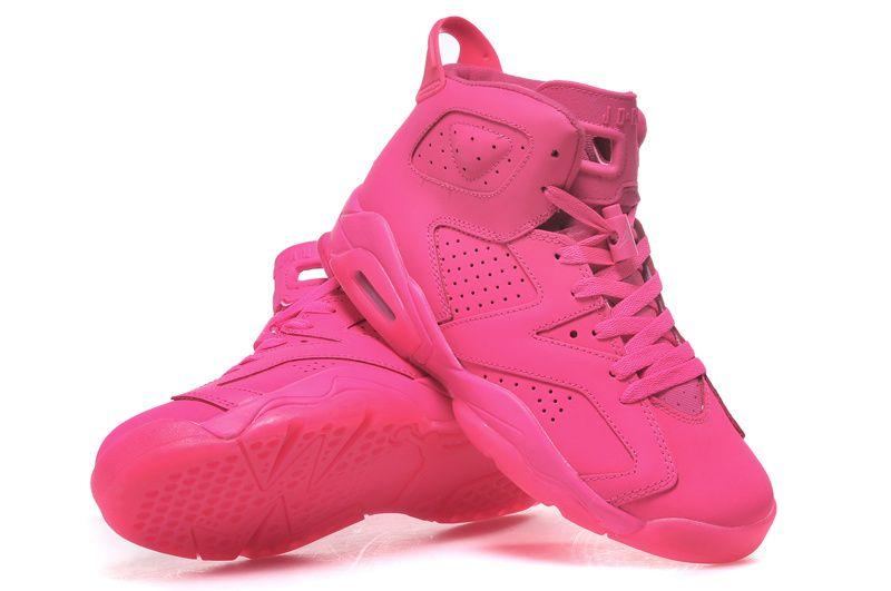 all pink jordan 6
