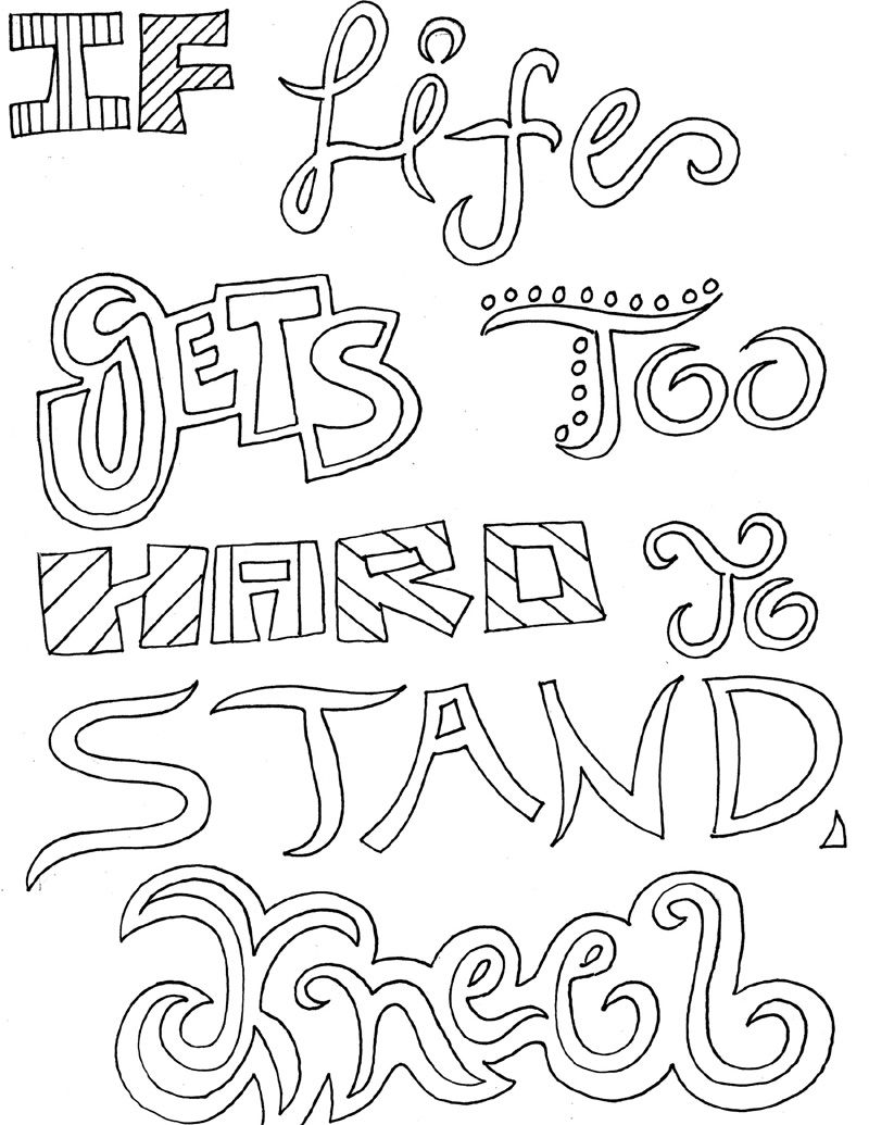 Inspirational Quotes Coloring Pages For Adults Procoloring