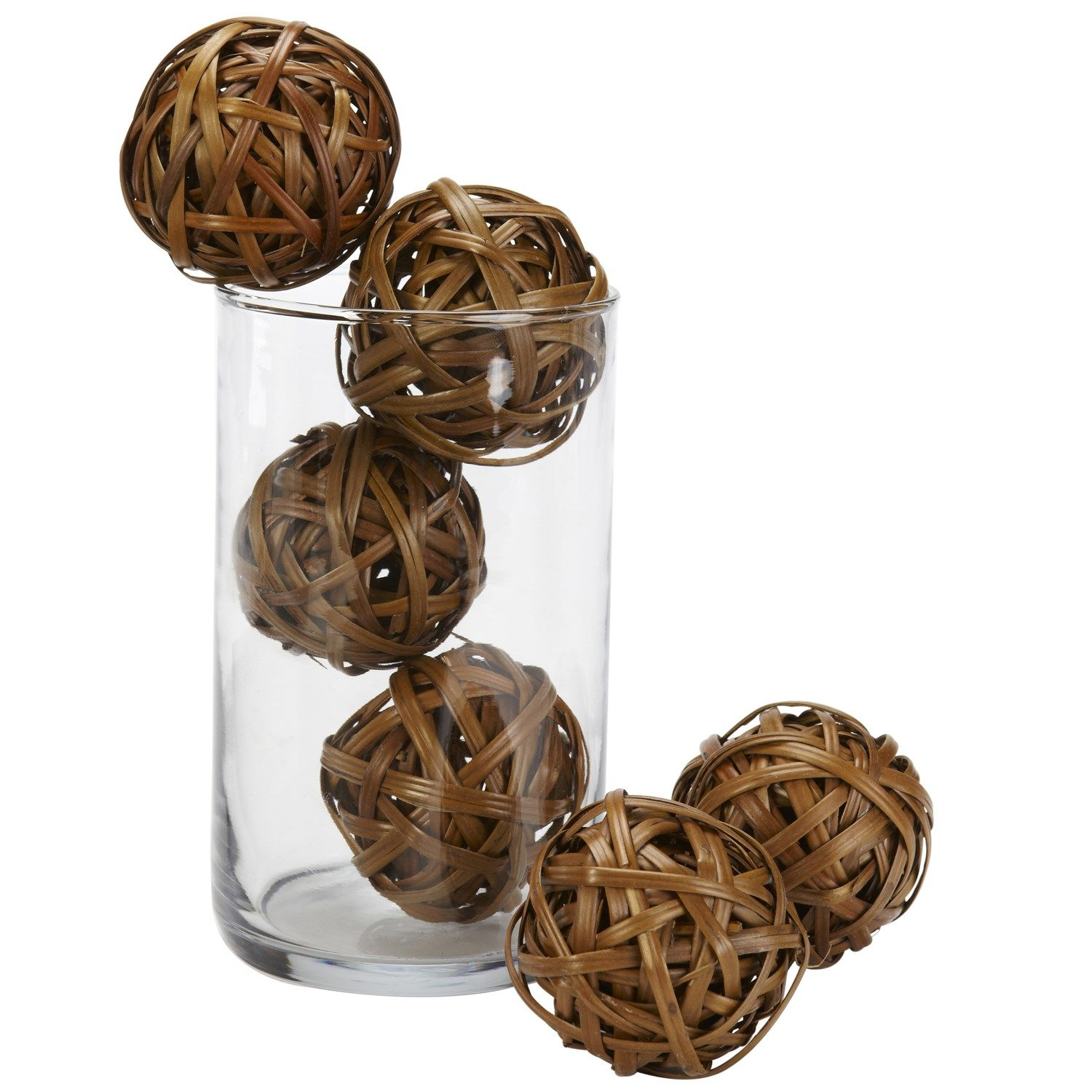 """Cheap Decorative Balls Nearly Natural 3022 2"""" Decorative Balls In Brown  Set Of 12"""