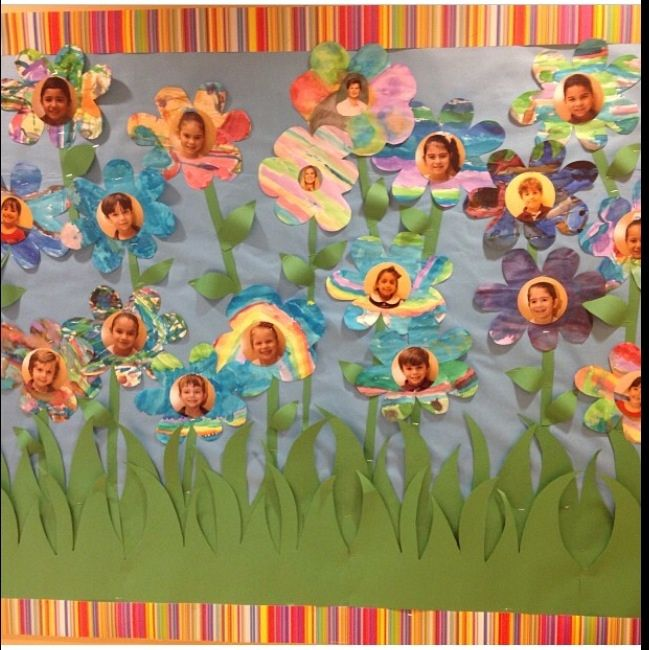 Spring Flowers Children Watercolor Papers Them Cut Them In Flower