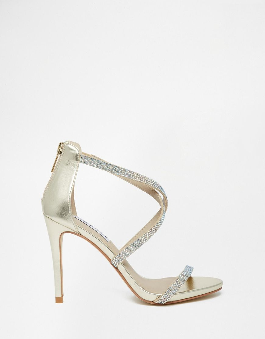 Buy Women Shoes / Steve Madden Fizz Gold Embellished Heeled Sandals