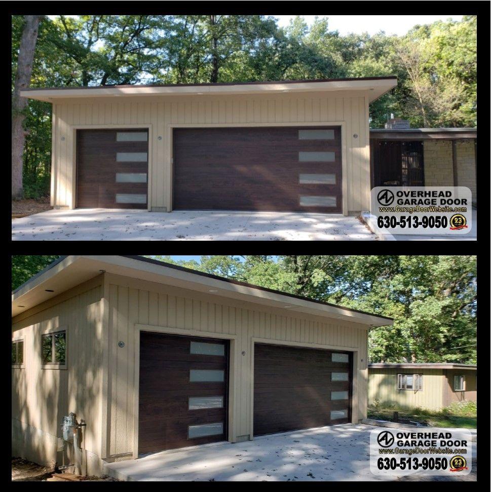 Chi Horizontal Plank Doors With Vertical Long Panel Windows In 2020 Garage Doors Chi Garage Doors Overhead Garage Door