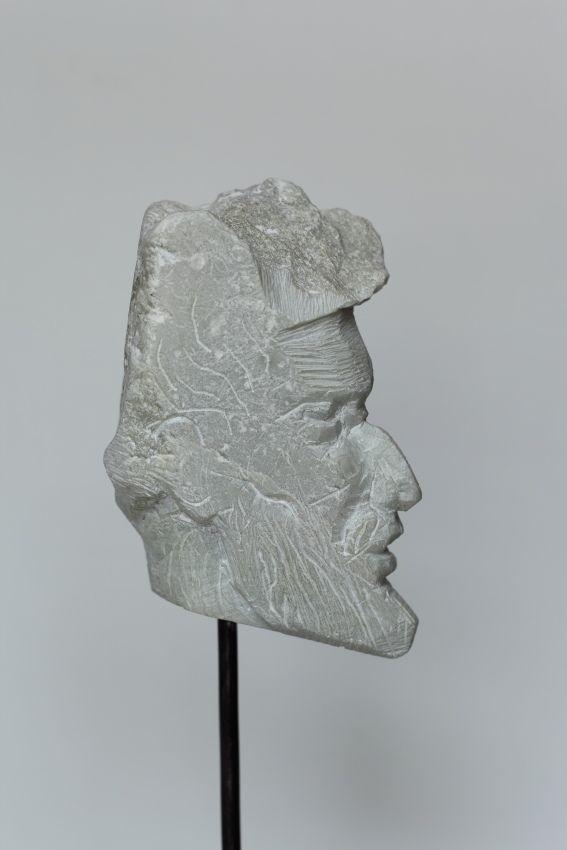 Sterndeuter, Stein, h = 15 cm, 2012, Konrad Thalmann, Bildhauer, sculptor,