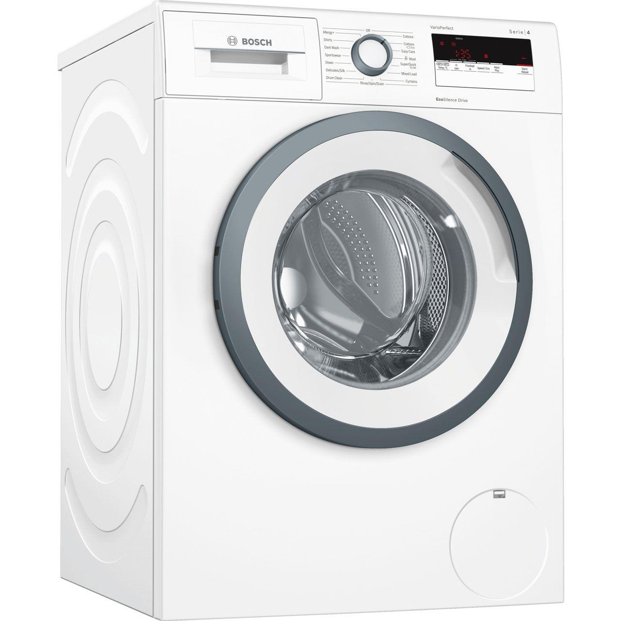 Bosch Serie 4 Wan28150gb 8kg Washing Machine With 1400 Rpm White A Rated Bosch Washing Machine Washing Machine Washing Machine Dryer