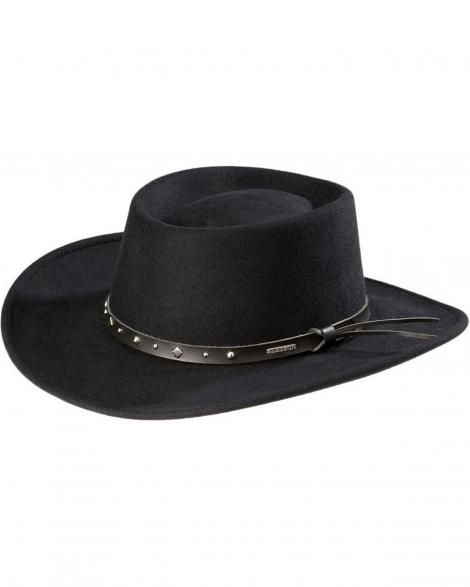 ea04f39fbe9b9 Stetson Black Hawk Crushable Wool Gambler Hat - Sheplers