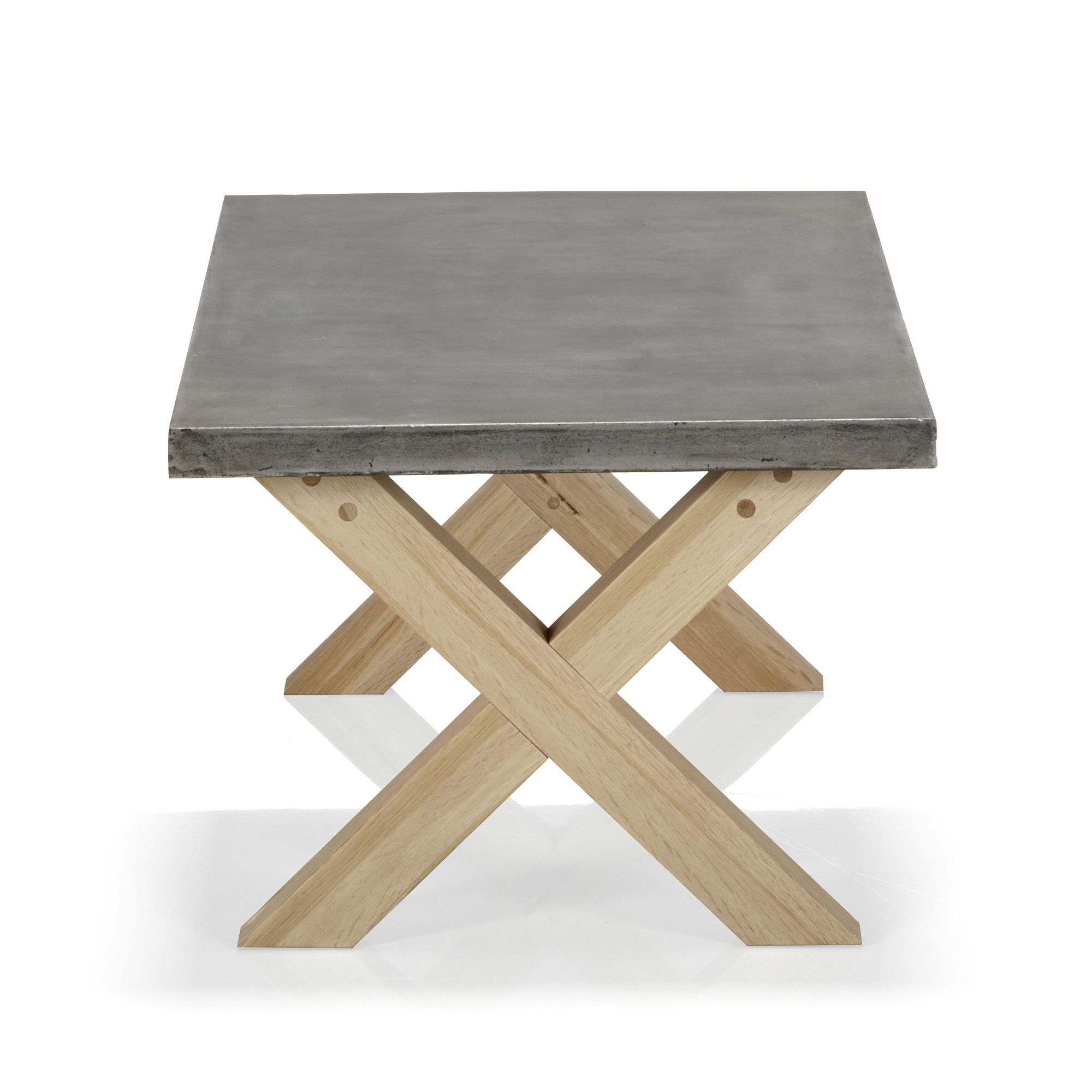 Table Basse En Ch Ne Avec Plateau Aspect B Ton Cir Peker Les  # Salon Meuble Beton