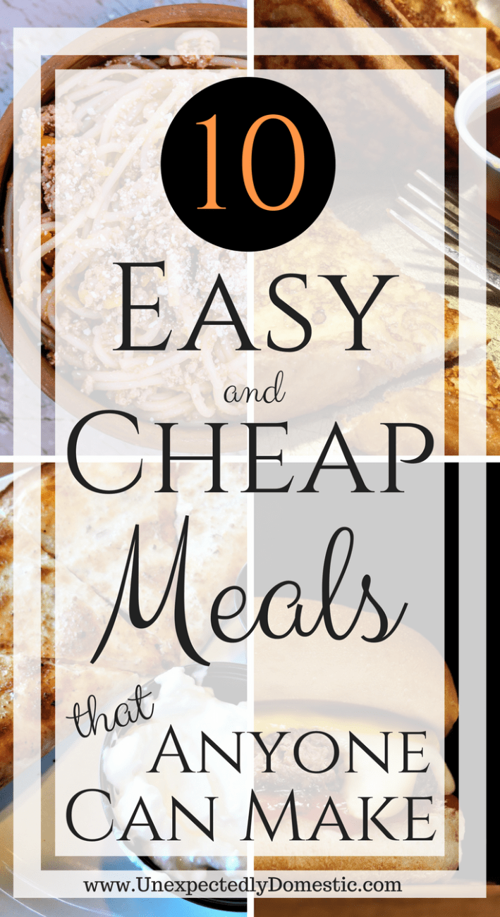 10 Easy and Cheap Meals ANYONE Can Make images