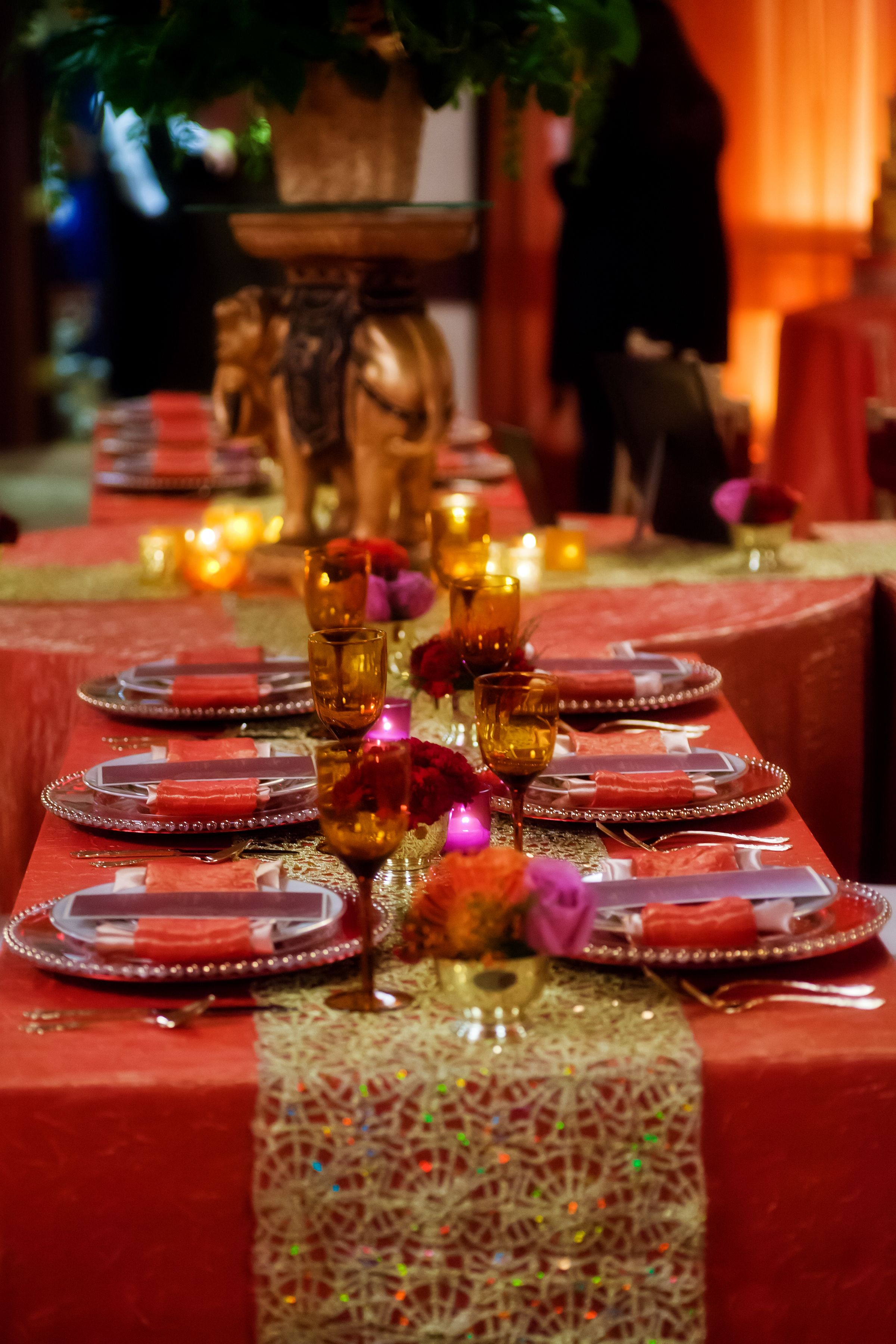 Indian Inspired Wedding Table... Rentals by Barclay Event