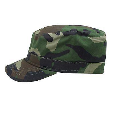 Castro Military Green Camouflage Army Cadet Cap Hat Rasta Rastafari Urban  ARMY med  large 10000 28a022f9d48