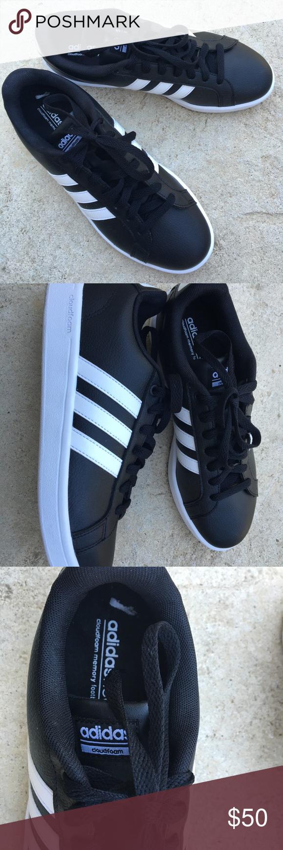 Adidas In Bianco E Nero Di Pelle Scarpe Pelle Scarpe