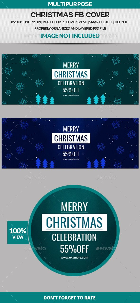 Christmas Facebook Cover Facebook, Graphics and Facebook cover - advertising timeline template
