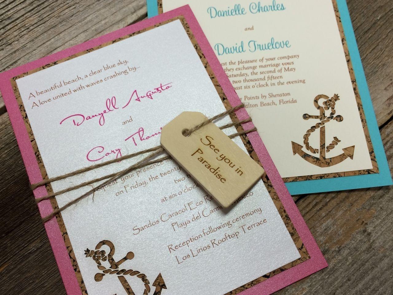Laser Cut Invitation, Water of Love, Wedding Invitation, Anchor ...