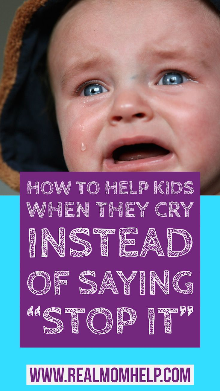 Why does the child cry