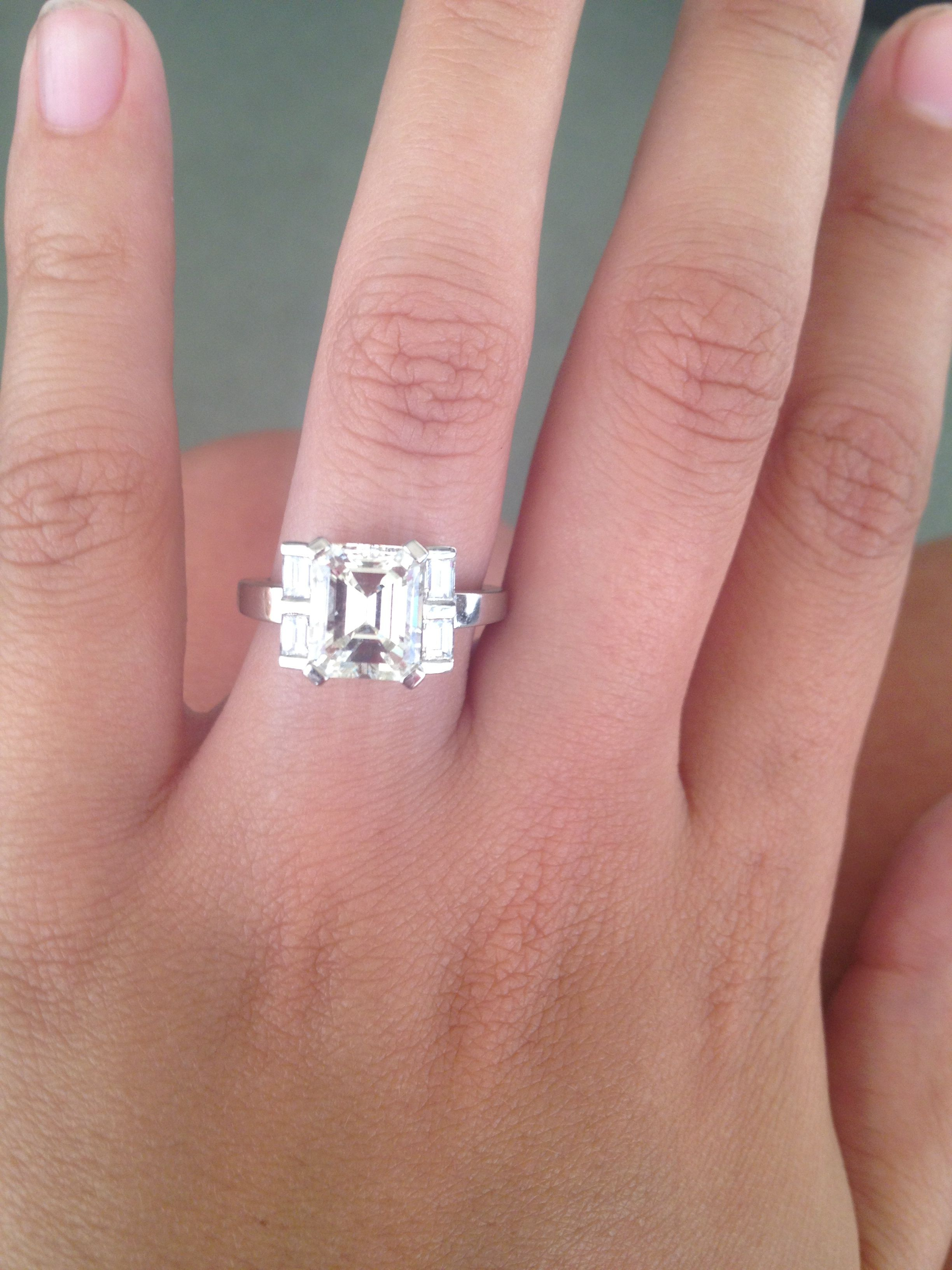 3 Carat Emerald Cut Engagement Ring Ringscladdagh