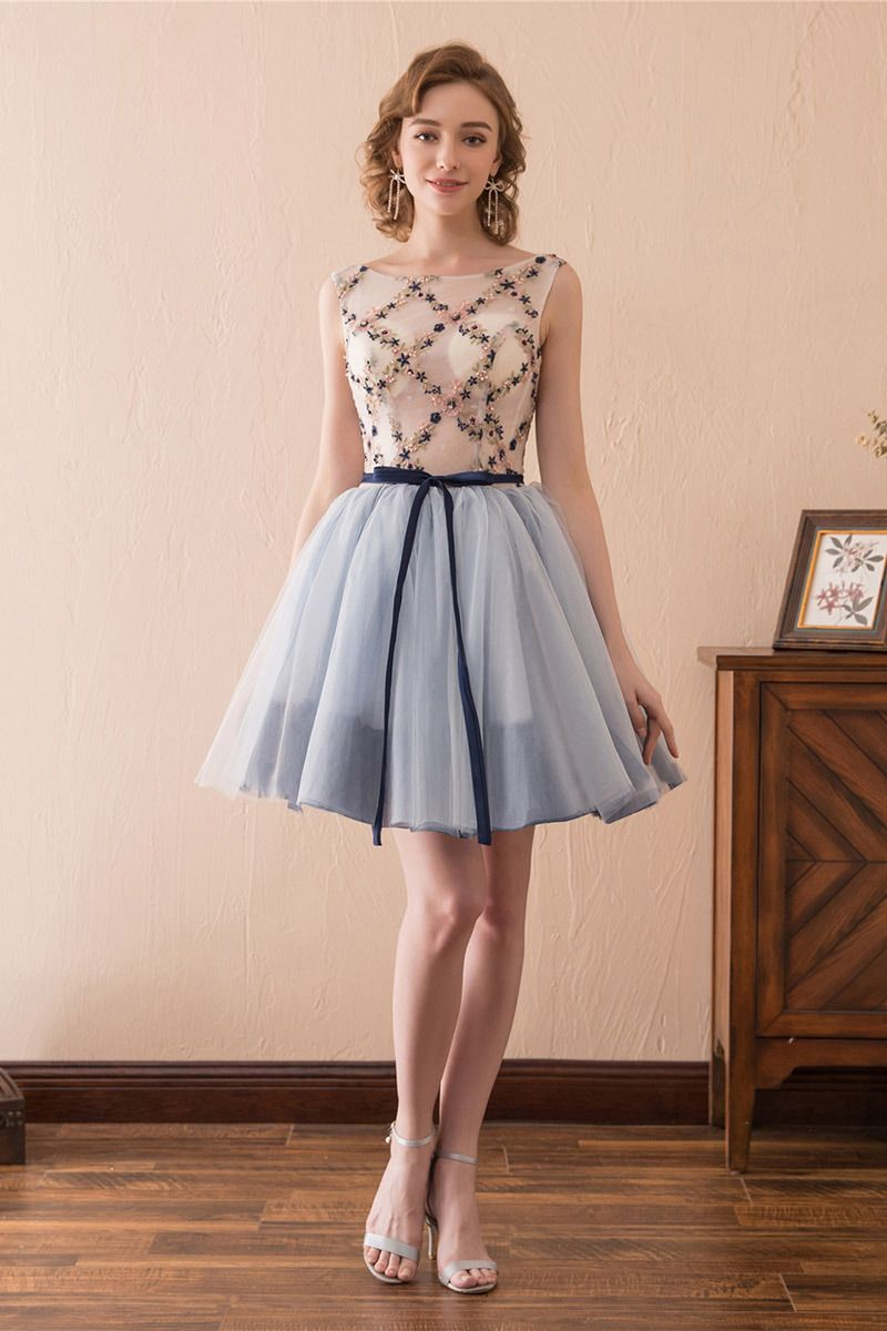 Cute short corset homecoming dress with lace for junior girls