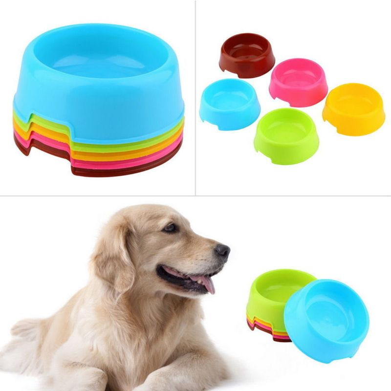 Pet Dog Cat Puppy Exquisite Plastic Food Feeding Water Dish Bowl Feeder
